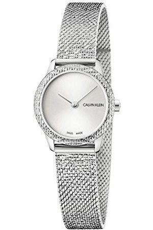 Calvin Klein Analoog kwartshorloge voor dames met roestvrij stalen armband K3M23T26