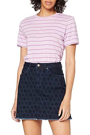 Yargıcı Yargir dames rok mini embroidered denim skirt