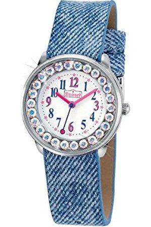 Scout Meisje analoog kwartshorloge met imitatieleer armband 280381008