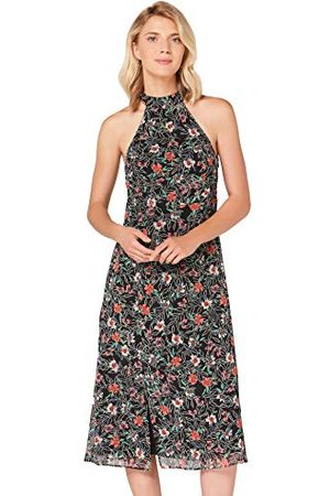 TRUTH & FABLE Amazon-merk - Midi-A-lijn jurk voor dames, multicolour (mini-gekleurd sjabloon), 16, etiket: XL