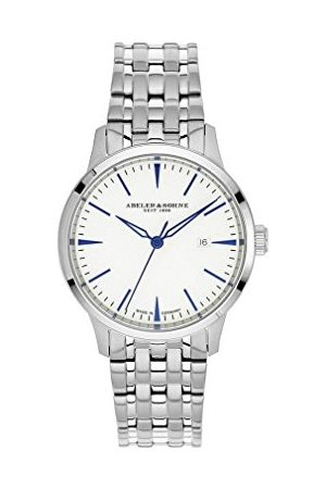 Abeler und Söhne Dames analoog kwarts smart watch polshorloge met roestvrij stalen armband 3020M