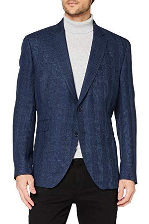 Hackett Heren Blue Hopsack Check Cc Jacket