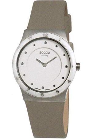 Boccia Womens Analoog Quartz Horloge met Lederen Band 3202-03