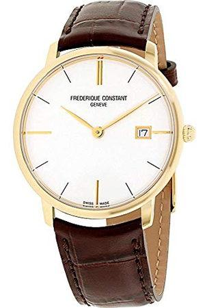 Frederique Constant Unisex datum standaard kwarts horloge met lederen armband FC-220V5S5