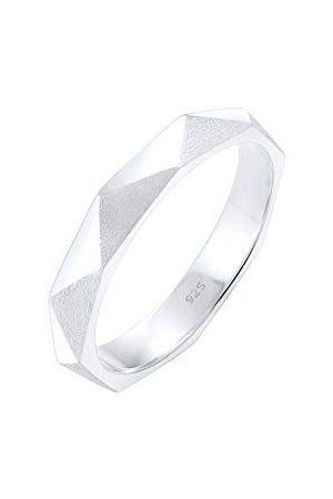 Elli Ringen Hexagon Geo Minimal glänzend brushed 925 Silber