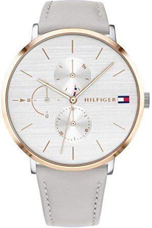 Tommy Hilfiger Dames multiwijzerplaat kwarts horloge met lederen armband 1781946