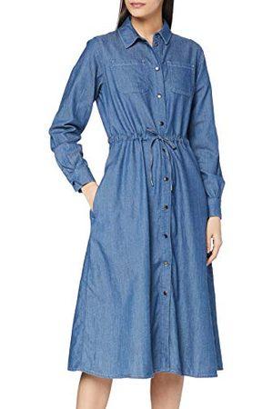People Tree Dames Annie lichtgewicht denim jurk Casual