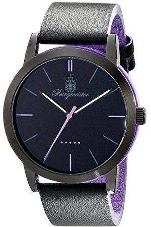 Burgmeister BM523-623B-1 Ibiza Herenhorloge met analoge weergave, kwartshorloge en leren armband, waterdicht herenhorloge met tijdloos, chique design, klassiek horloge voor mannen
