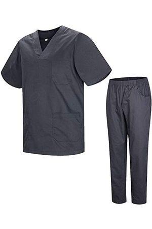 MISEMIYA Sanitair pyjama 8178, uniseks, voor volwassenen - grijs - Medium