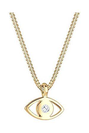 Elli Dames Kettingen - Dames. 925 Zilver Brillantschliff kristal