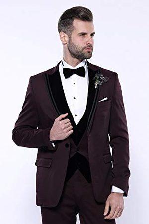 Wessi Slimfit, fluwelen kraag, motief Smoking Tuxedo