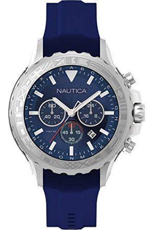 Nautica Analoog kwartshorloge voor heren, met armband van siliconen, NAD18534G