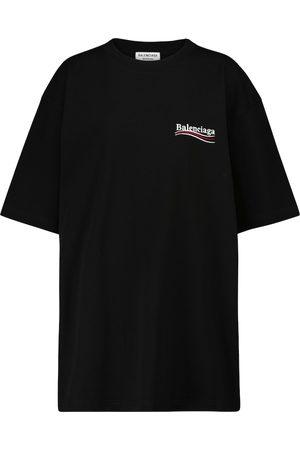 Balenciaga Dames Shirts - Logo cotton T-shirt