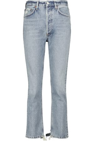 Agolde Dames Straight - Riley high-rise straight cropped jeans