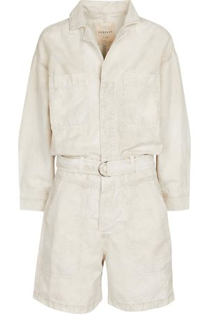Citizens of Humanity Willa cotton and linen playsuit