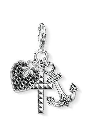 Thomas Sabo Charm Club 1555-643-18 Bedelhanger voor dames en heren, 925 sterling zilver