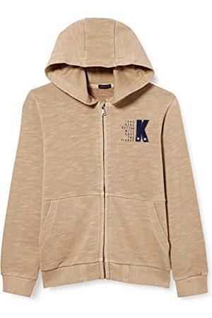 IKKS Gebreid vest met capuchon, , middelgroot, logo K voor jongens.