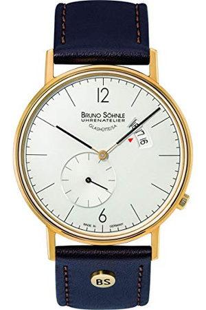 Soehnle Bruno Söhnle 17-33053-261 Analoog kwartshorloge voor heren, met leren armband