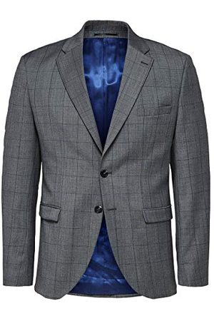 Selected Homme Heren Slhslim-mylorob Grey Check Blz B Noos pak jas