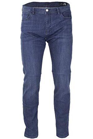 Armani Heren katoen stretch Indigo Blue Denim, straight jeans