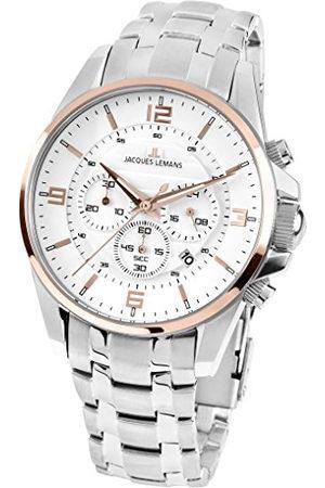 Jacques Lemans Dames analoog kwarts horloge met roestvrij stalen armband 1-1857I