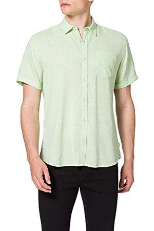 Pioneer Linnen overhemd met korte mouwen voor heren