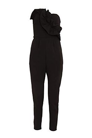 Girls on Film Dames Halcyon Frill Jumpsuit