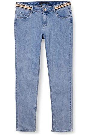 IKKS Denim Slim Fit lichtblauw met handvatten etnische stijl meerkleurige jeans meisjes