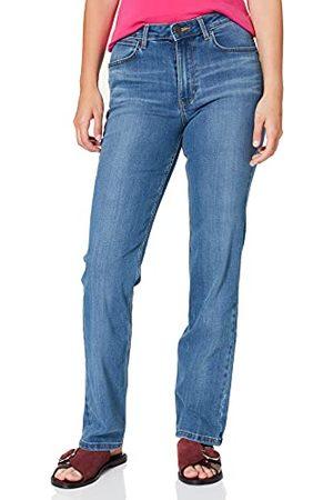Wrangler Dames High Rise Straight Jeans, Rocky, 32/31