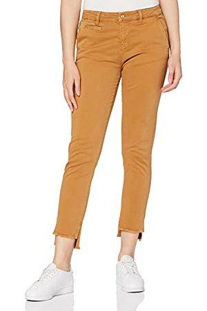 Yargıcı Dames Piping Gedeiled Broek Straight Jeans