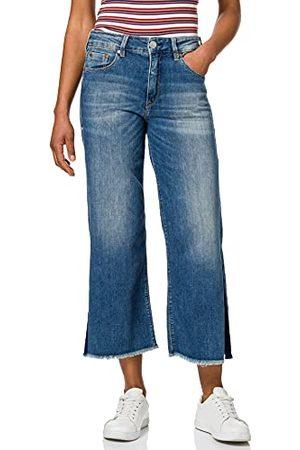 Herrlicher Prachtige dames Super G Flared Cropped Denim Cashmere Touch Jeans