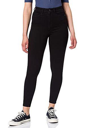 Noisy May Dames NMAGNES HW Skinny BL Jeans, Black, 31/32