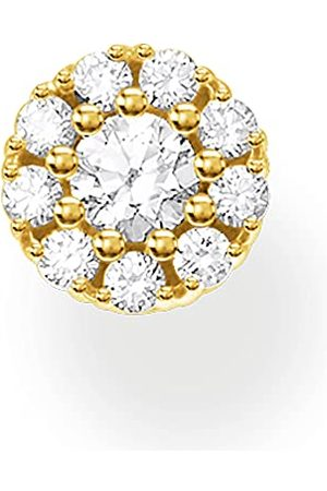 Thomas Sabo Dames enkele oorstekers witte stenen goud, 925 sterling zilver