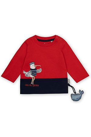sigikid Baby-jongens shirt met lange mouwen van biologisch katoen voor kinderen T-shirt