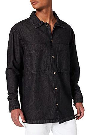 Urban classics Oversized denim overhemd voor heren.