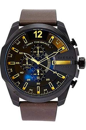 Diesel Heren chronograaf kwarts horloge met leren armband DZ4401