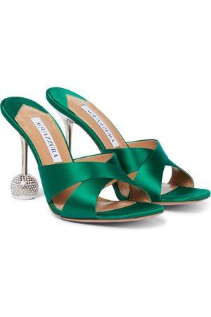Aquazzura Dames Sandalen - Yes Darling 95 satin sandals
