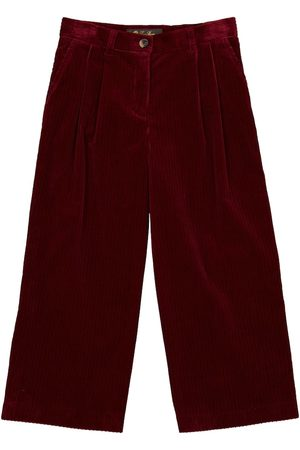 Loro Piana Annika velvet stretch-cotton pants