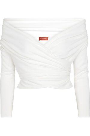 Altuzarra Dames Sweaters - Crawley off-shoulder wrap sweater
