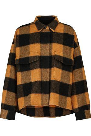 MM6 MAISON MARGIELA Dames Lange mouw - Checked wool-blend shirt jacket
