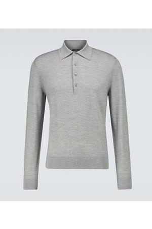 Tom Ford Heren Poloshirts - Wool long-sleeved polo shirt