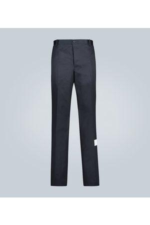 Thom Browne Heren Chino's - Cotton-twill chinos
