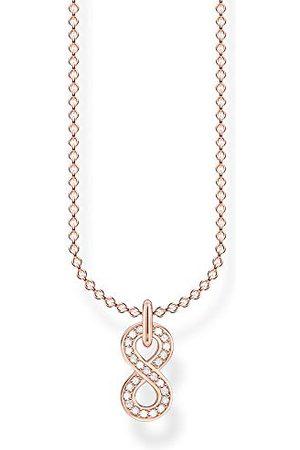 Thomas Sabo Dameshalsketting Infinity rosé 925 sterling zilver, lengte 38-45 cm