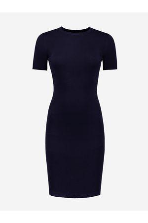 NIKKIE by Nikkie Plessen Aangesloten jurk met korte mouwen 32 / Navy
