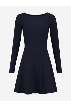 NIKKIE by Nikkie Plessen A-lijn jurk met lange mouwen 32 / Navy