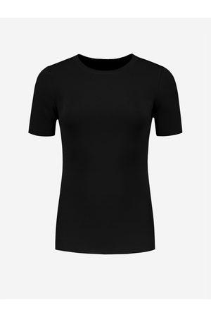 NIKKIE by Nikkie Plessen Aangesloten top met korte mouwen 32 / black