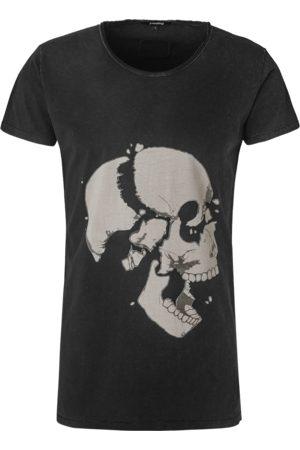 Tigha Heren Shirts - Heren afdrukbaar hemd Loose your head Wren (vintage black)