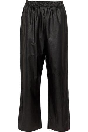 MM6 MAISON MARGIELA Dames Wijde broeken - Faux leather pants