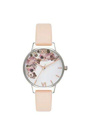 Olivia Burton Vrouwen Analoog Japans Quartz Horloge Met Lederen Band, OB16EG75