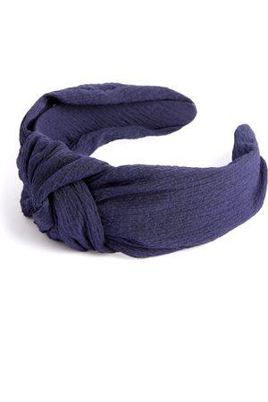 Primark Dames Haaraccessoires - Donkerblauwe haarband van crãªpe met knoop